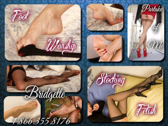 get you foot fetish fix with Bridgette