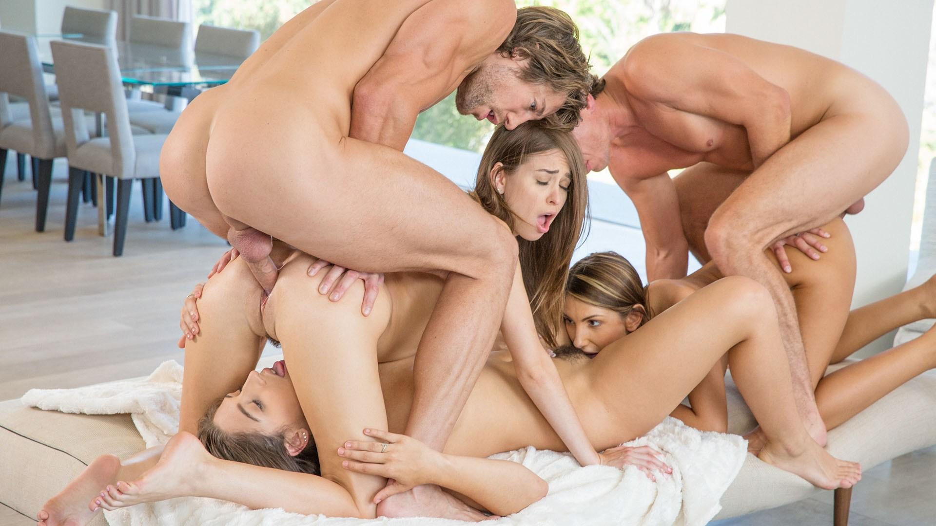 Приятное групповое порно