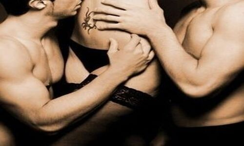 forced bisexual threesome